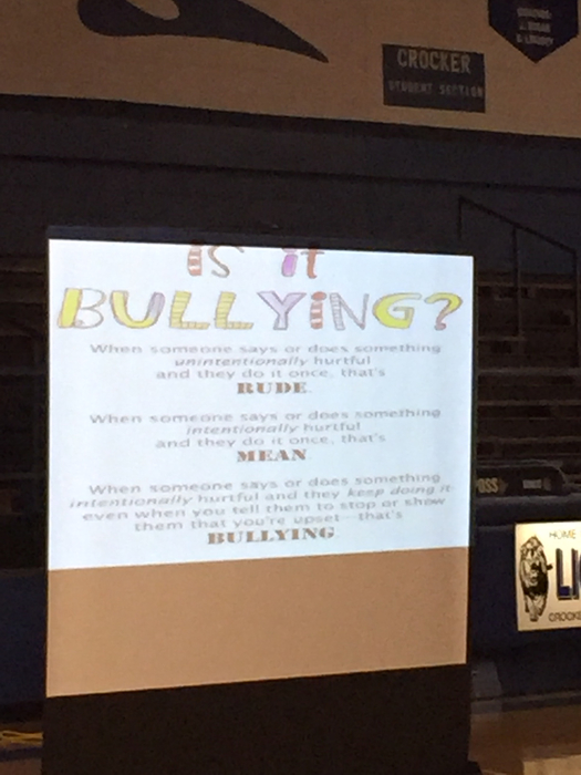 Slide defining bullying